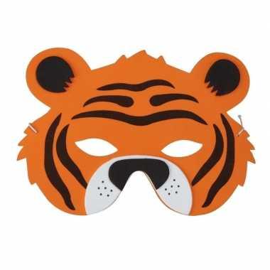 Tijger foam dierenmasker voor kinderen