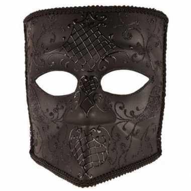 Venetiaans Bauta masker zwart
