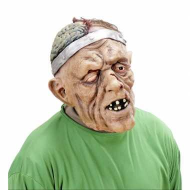 Verkleed eng zombie masker van latex