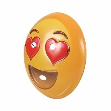Verliefde smiley masker