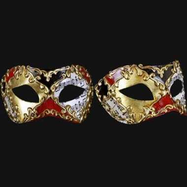 Wandversiering Italiaans Carnaval van Venetie oogmasker