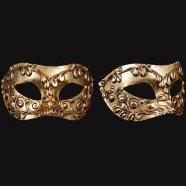 Wandversiering Italiaans oogmasker goud