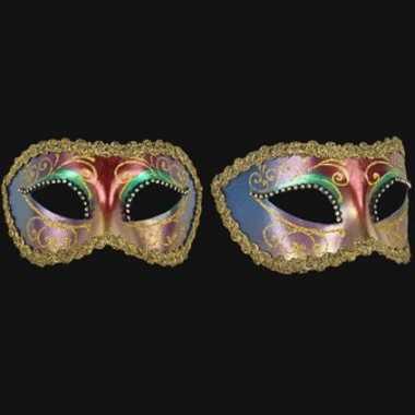 Wandversiering Italiaans oogmasker multicolor
