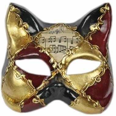 Wandversiering katten masker Venice