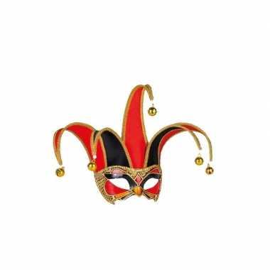 Wandversiering masker zwart/rood