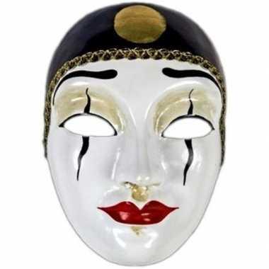 Wandversiering Pierrot masker