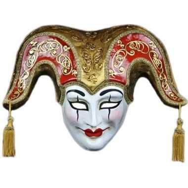 Wandversiering vrolijke joker masker