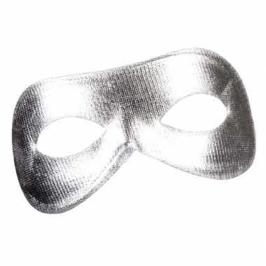 Zilver metallic oog masker voor dames