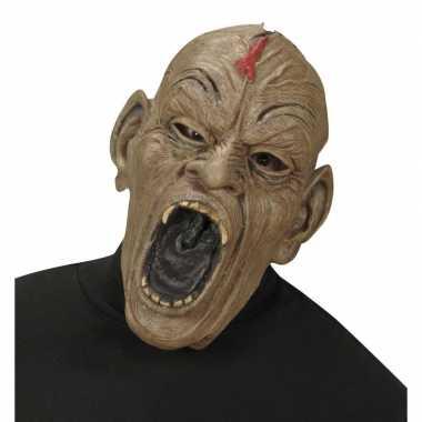 Zombie masker met open mond