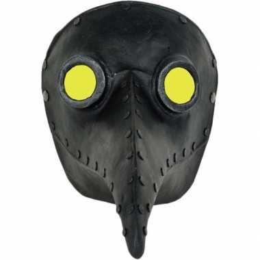 Zwart venetiaans snavel masker pestdokter