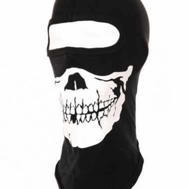 Zwarte eengaats bivakmutsen met skeletten kop masker