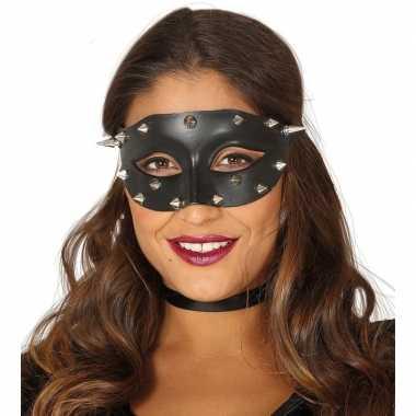 Zwarte oogmaskers met stekels voor dames