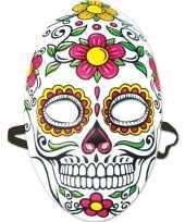 Feest party mexicaans doodshoofd masker dag van de doden day of the dead voor dames
