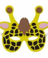 Giraf foam dierenmasker voor kinderen