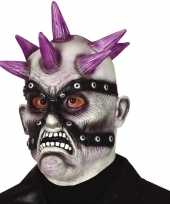 Punk zombie monster masker van latex