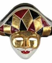 Wandversiering harlekijn masker