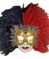 Wandversiering italiaans veren masker